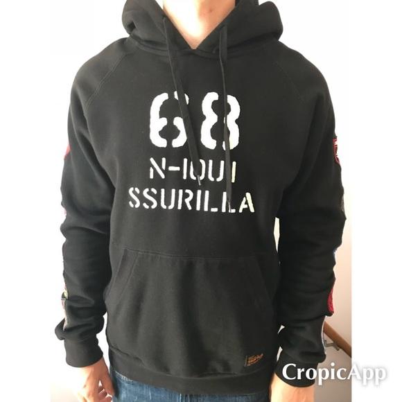 Crooks /& Castles Men/'s Knit Crew Sweatshirt Black,Navy,Grey AK Script Size M-5XL